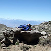 High altitude planking, White Mountain Peak Trail